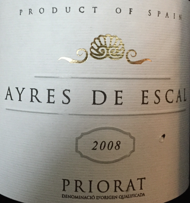 Ayres De Escal 2008 Priorat
