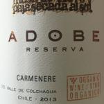 Adobe Reserva 2013 organic Carmenere Chile