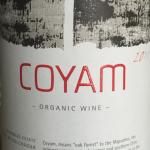 Coyam organic wine Chile 2011