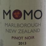 Momo Marlborough NZ organic 2013 Pinot Noir