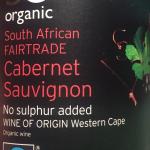 SO Organic Cab Sav SA Sainsburys NSA