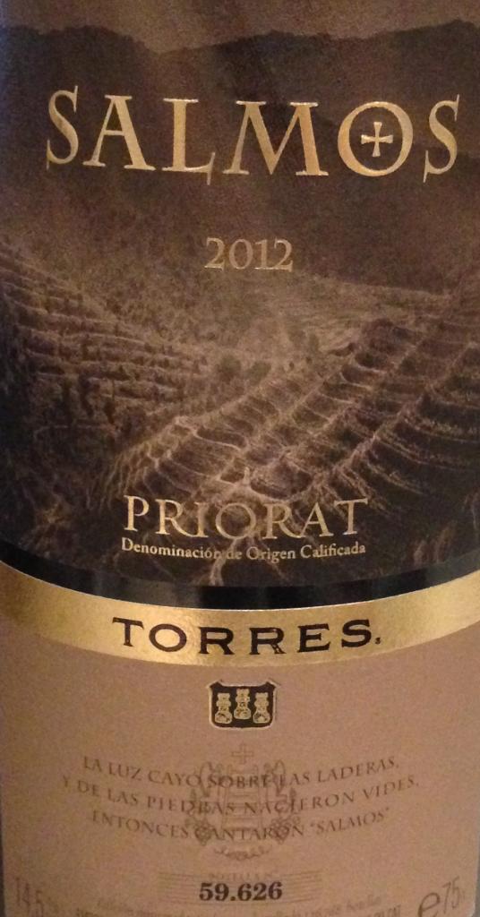 Salmos Priorat Torres 2012