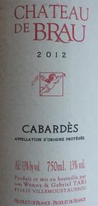 Chateau de Brau 2012 Cabardes