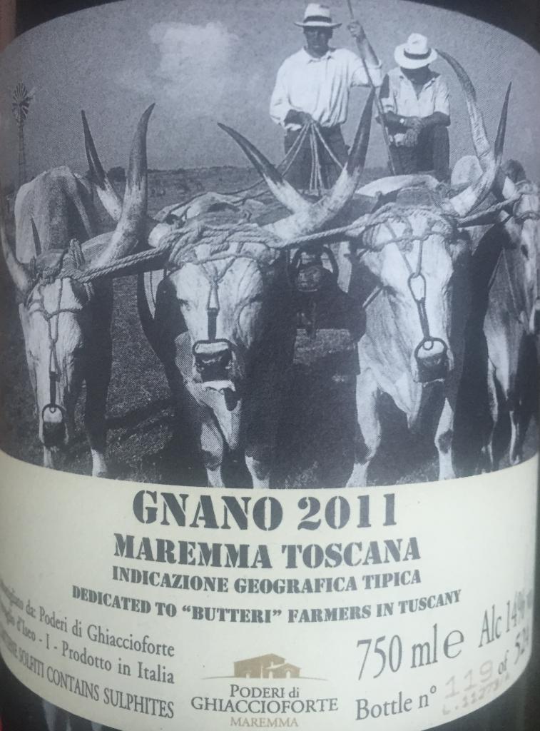 Gnano GRaciano Tuscany 2011