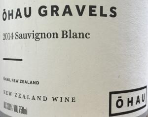 Ohau gravels Sauvignon Blanc 2014 New Zealand sustainable wine