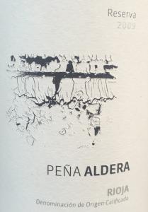 Pena Aldera Rioja Reserva 2009