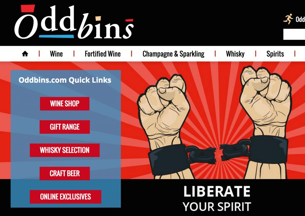 Oddbins online wine retail