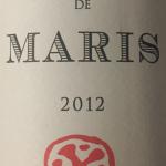 Maris 2012 organic Syrah from Minervois