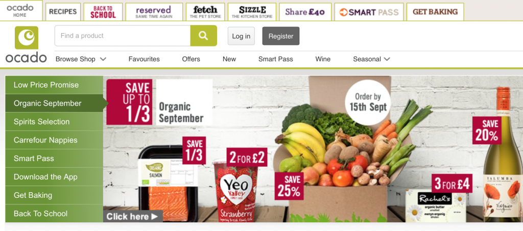 Ocado screenshot