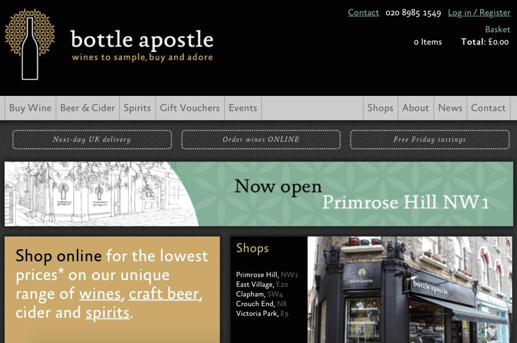 Bottle Apostle screen