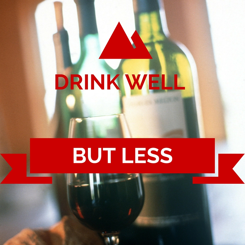 drink well but less wine organic tips