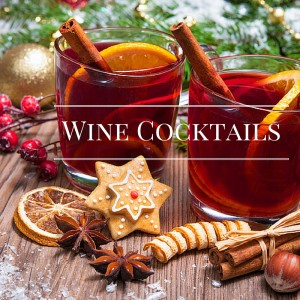 wine cocktails - mulled wine, champagne cocktails
