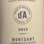 Planella Montsant 2012 organic biodynamic