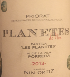 Planetes de Nin Priorat biodynamic and organic