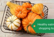 Healthy eating shopping list