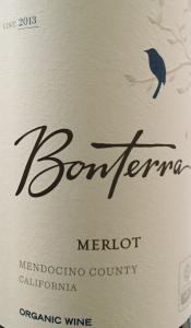 Bonterra organic Merlot 2013 California USA