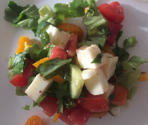 salad haloumi vegetarian healthy