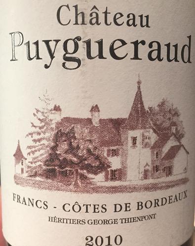 Chateau Puygueraud 2010