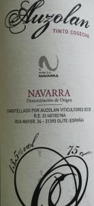 Auzolan Tinto Cosecha organic Navarra