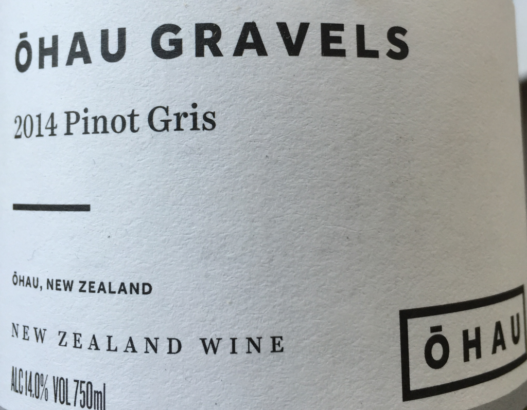Ohau gravels Pinot Gris 2014 sustainable