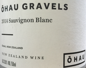 Ohau gravels Sauvignon Blanc 2014 New Zealand sustainable wine