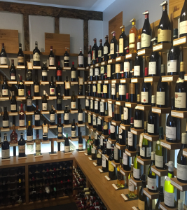 Berry Bros and Rudd wine shelves