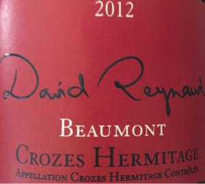 DavidReynaud2012CrozesHermitage