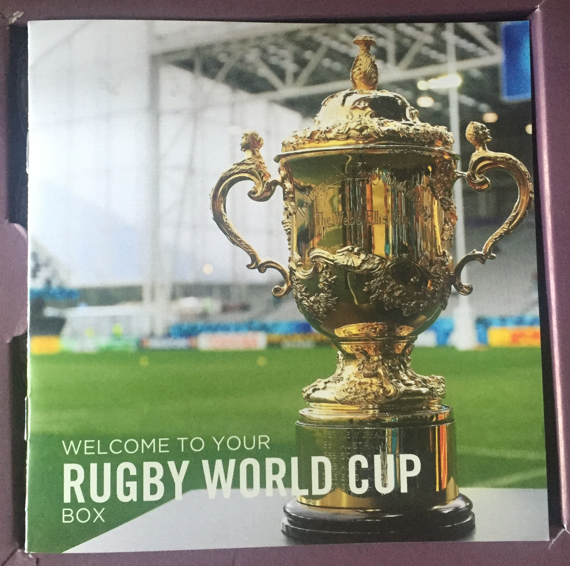 Vinoa Rugby themed wine tasting box