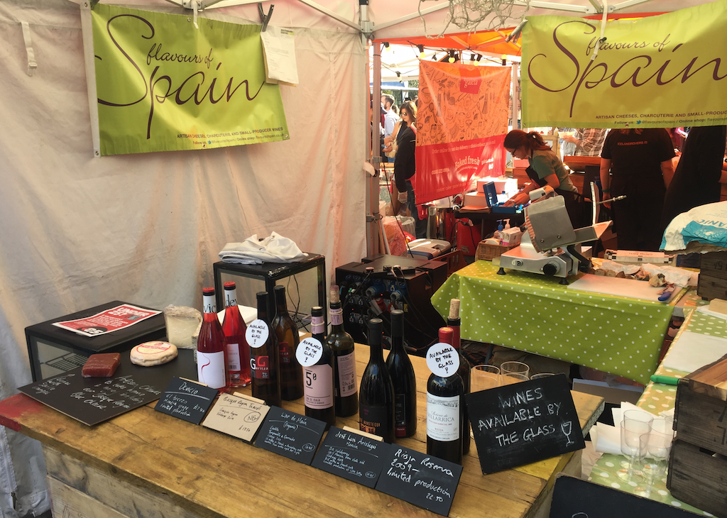 flavours of spain market wines southbank stall