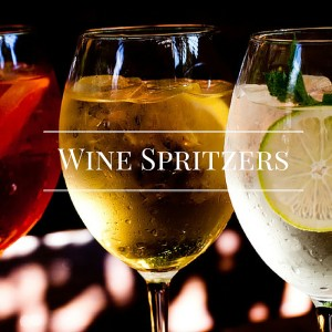 white and red wine spritzers
