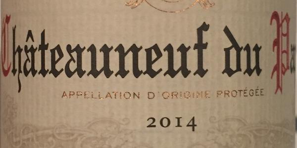 Chateauneuf Du Pape Lidl 2014